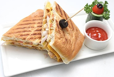 Chicken tikka panini